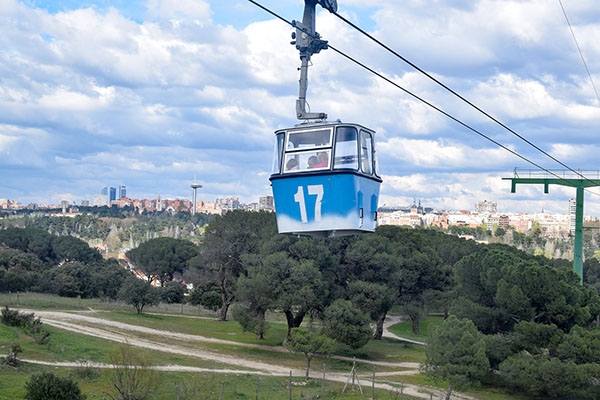 Planes en pareja en Madrid: teleferico
